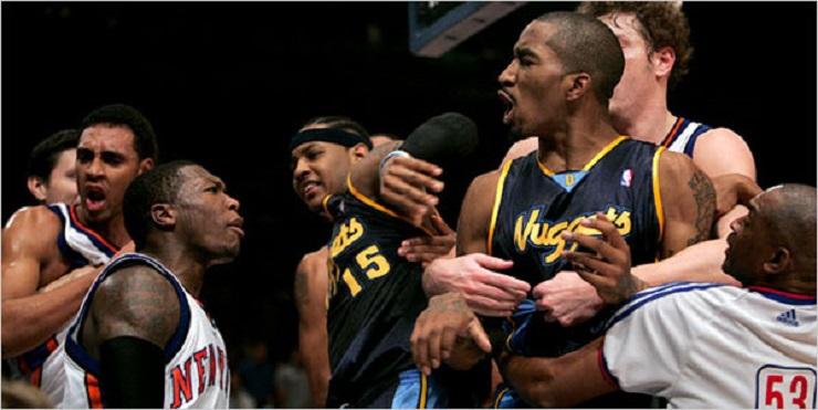 Ranking: Las 10 mayores peleas de la Historia de la NBA