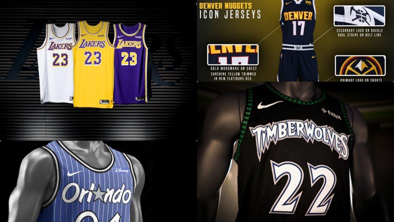 Todas Las Nuevas Camisetas Nba De La Temporada 2018 2019